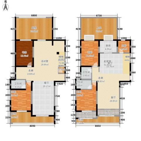 颐和观海5室0厅3卫1厨283.39㎡户型图