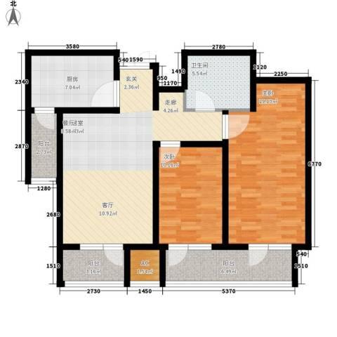 日月天地广场2室0厅1卫1厨89.00㎡户型图