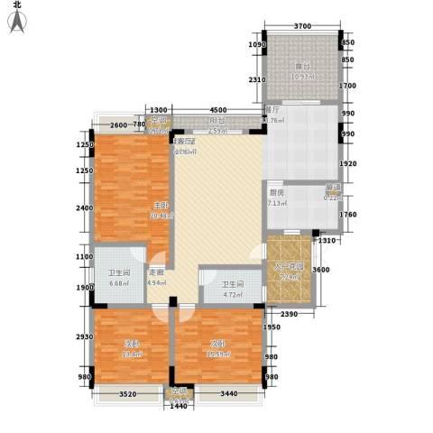 公园一号3室0厅2卫1厨137.00㎡户型图