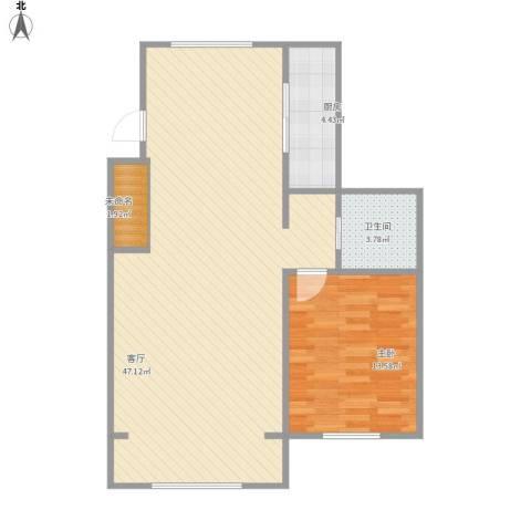 文汇苑1室1厅1卫1厨96.00㎡户型图