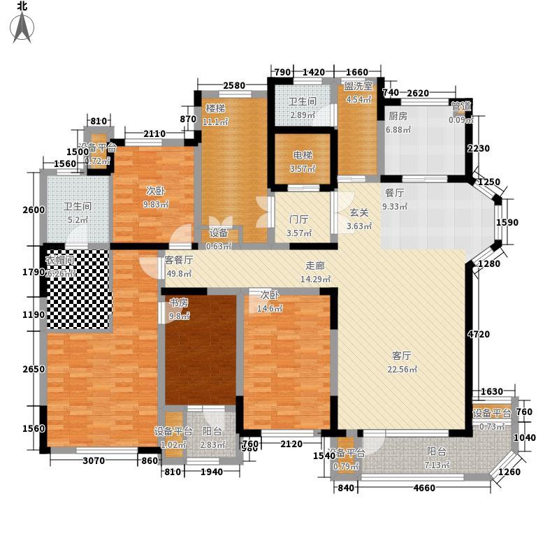 华润中央公园悦玺23#楼标准层C3户型