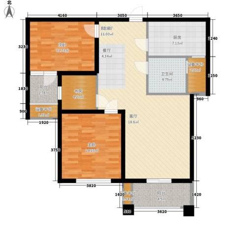 世茂东都3室1厅1卫1厨125.00㎡户型图