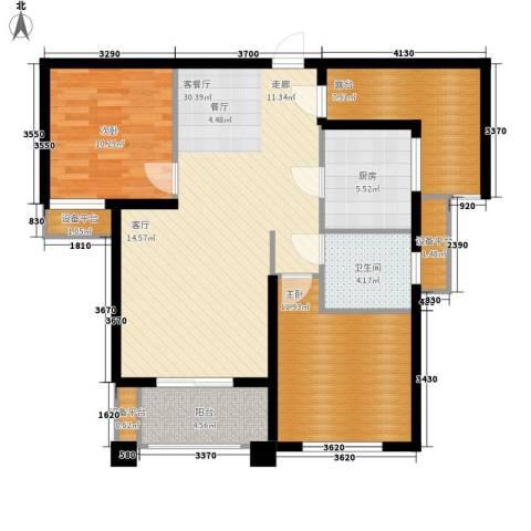 世茂东都2室1厅1卫1厨111.00㎡户型图