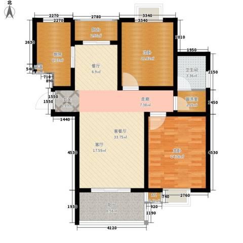 恒邦幸福里2室1厅1卫1厨119.00㎡户型图