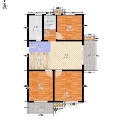 仕方国际3室0厅1卫1厨121.00㎡户型图