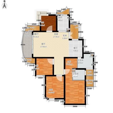 绍兴天下4室1厅2卫1厨166.00㎡户型图