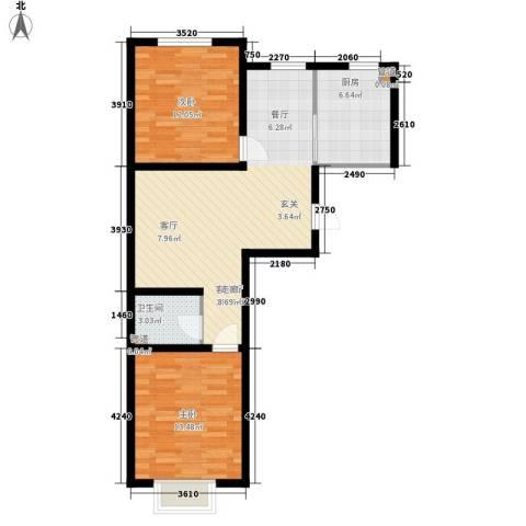 利源幸福�2室1厅1卫1厨99.00㎡户型图