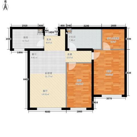 和美紫晶花园2室0厅1卫1厨90.00㎡户型图