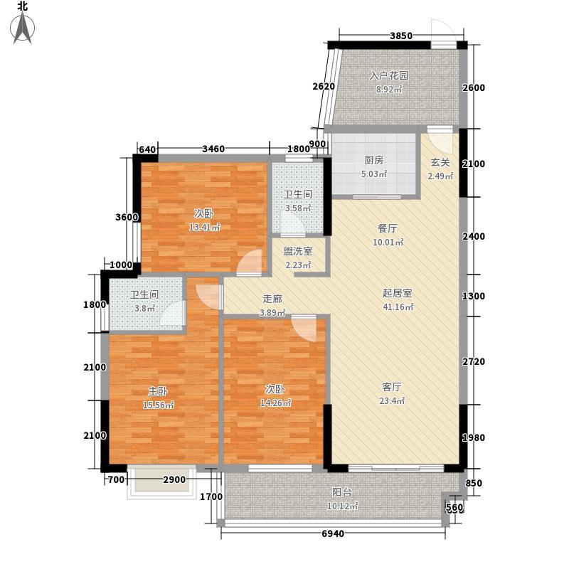 龙凤嘉园137.00㎡11-12栋B户型