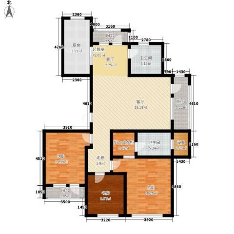 宏盛锦江玫瑰园3室0厅2卫1厨141.00㎡户型图