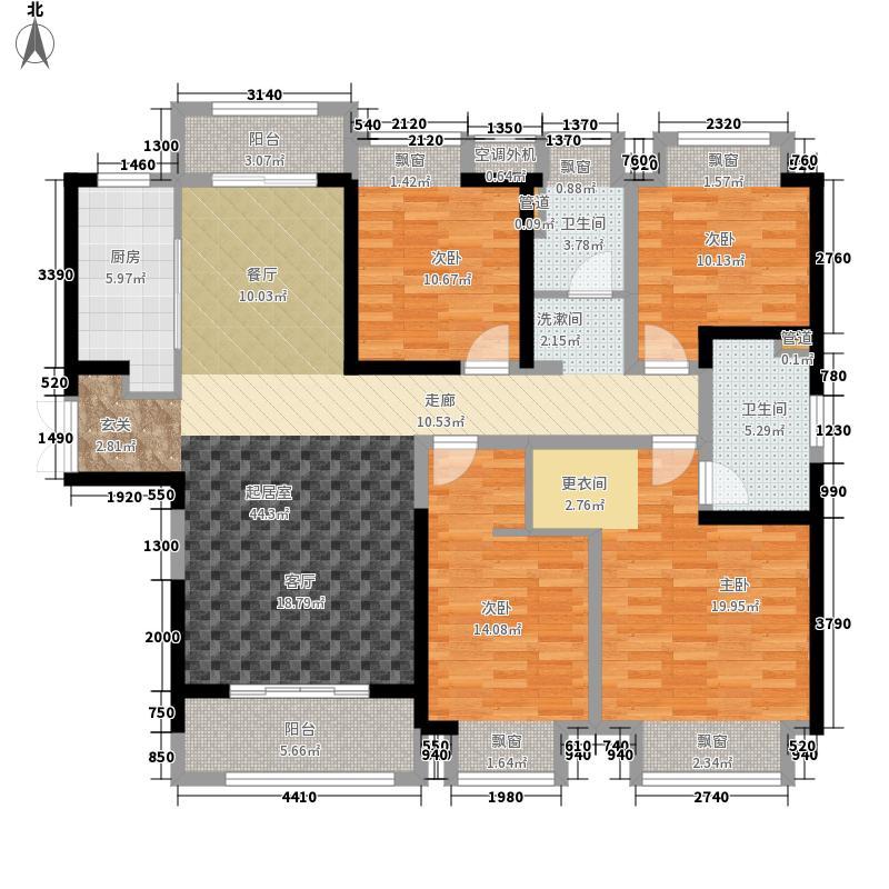 金辉·梁溪原筑142.00㎡金辉&#8226梁溪原筑户型4室2厅