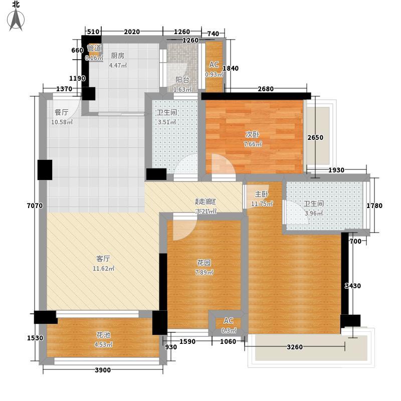 戛纳湾87.91㎡二期1、2、3号楼观滩风庭户型