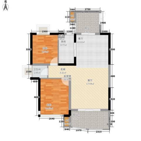 宏泽佳园2室0厅1卫1厨95.00㎡户型图