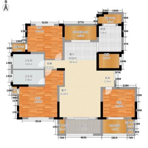 大地香漓湾3室1厅2卫1厨143.00㎡户型图