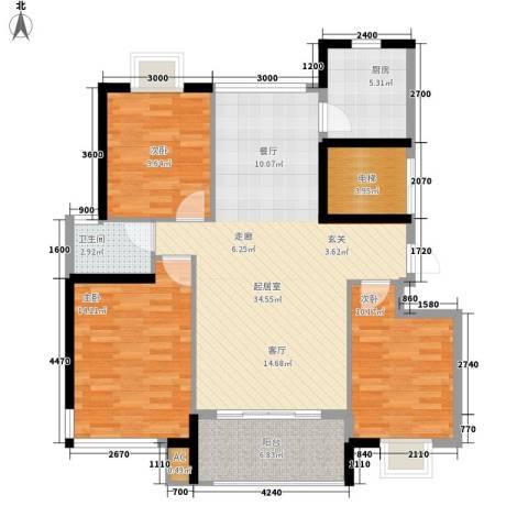 宏泽佳园3室0厅1卫1厨118.00㎡户型图