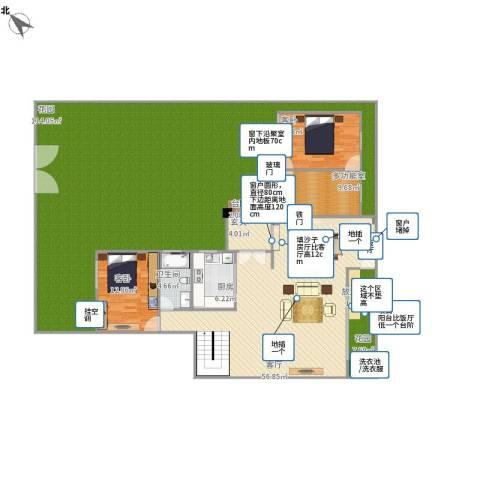集美大唐世家2室1厅1卫1厨295.00㎡户型图