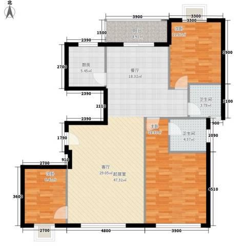 宏泽佳园3室0厅2卫1厨149.00㎡户型图