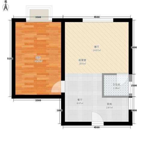宏泽佳园1室0厅1卫0厨56.00㎡户型图