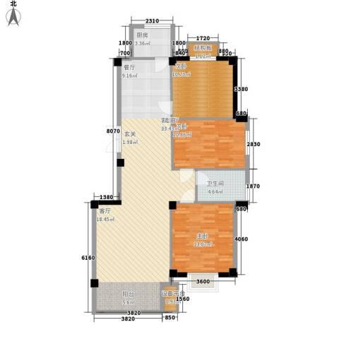 南郡天下・御园3室1厅1卫1厨129.00㎡户型图