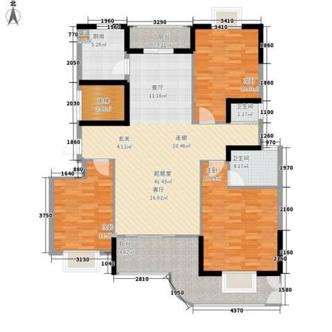 宏泽佳园3室0厅2卫1厨134.00㎡户型图