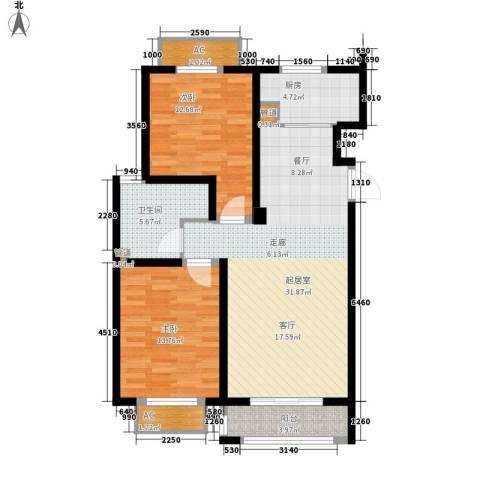 山河半岛2室0厅1卫1厨111.00㎡户型图