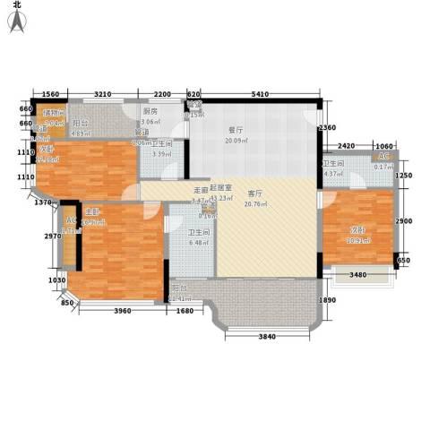 碧桂园金海湾3室0厅3卫1厨137.00㎡户型图