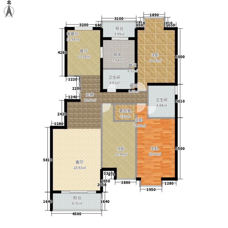 熙湖178.19㎡3号楼标准层C3面积17819m户型