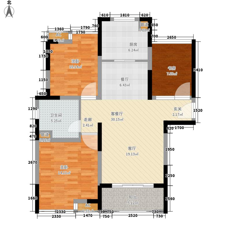 中冶梧桐园92.00㎡高层A1户型