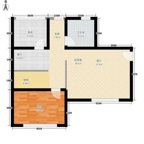 化工新村1室0厅1卫1厨65.00㎡户型图