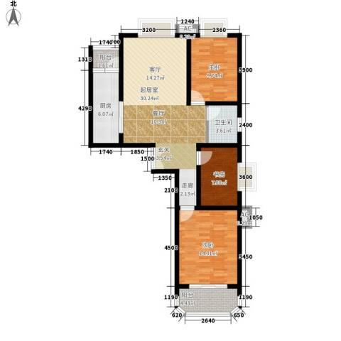 西钦帝景文院3室0厅1卫1厨112.00㎡户型图