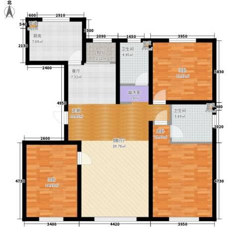 牡丹江国际花都3室1厅2卫1厨152.00㎡户型图