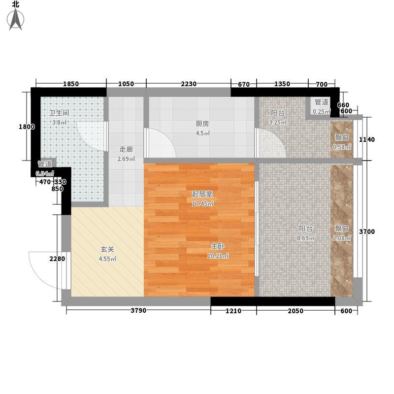 亚太商谷34.82㎡三期23幢标准层面积3482m户型