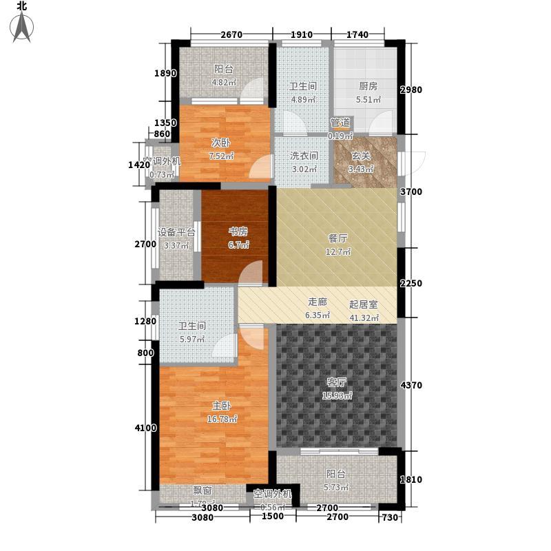 公元世家二期117.00㎡开投置业公元世家D户型3室2厅