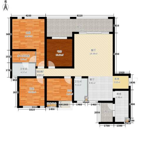 龙湖观山水4室1厅2卫1厨130.00㎡户型图