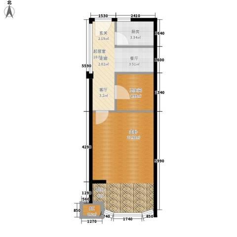 圣日华庭1室0厅1卫1厨48.00㎡户型图