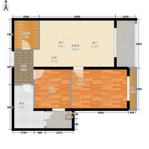 大唐天下江山2室0厅1卫1厨98.00㎡户型图