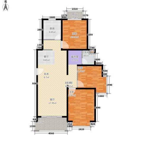 长宁馥邦3室0厅1卫1厨123.00㎡户型图