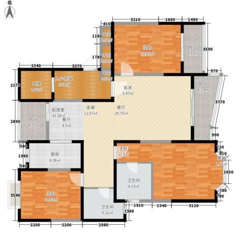强生古北花园3室0厅2卫1厨199.00㎡户型图