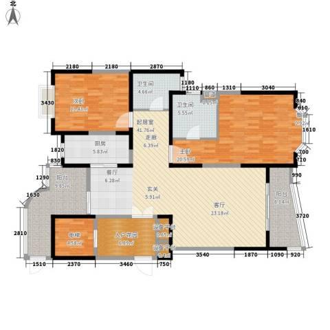 强生古北花园2室0厅2卫1厨170.00㎡户型图