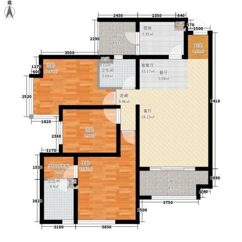 龙湖观山水3室1厅2卫1厨105.00㎡户型图