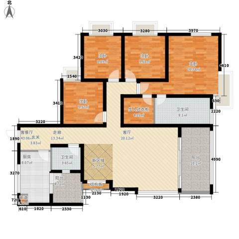龙湖观山水4室1厅2卫1厨139.00㎡户型图