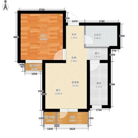 耀华心领寓1室0厅1卫1厨67.00㎡户型图