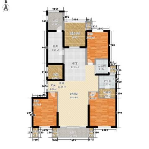 尚湖中央花园3室0厅2卫1厨179.00㎡户型图