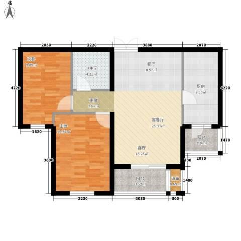 花园五座2室1厅1卫1厨98.00㎡户型图