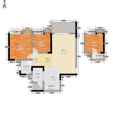 光宇阳光地中海3室0厅1卫1厨81.43㎡户型图