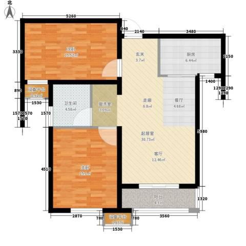 瞰海轩2室0厅1卫1厨89.00㎡户型图