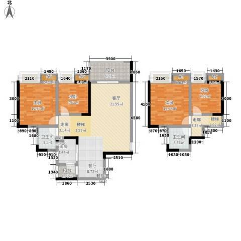 光宇阳光地中海4室0厅2卫1厨102.05㎡户型图