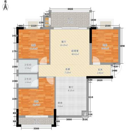 芙景佳园3室0厅2卫0厨128.00㎡户型图