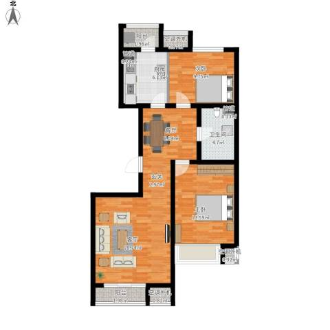 金第梦想山2室1厅1卫1厨103.00㎡户型图