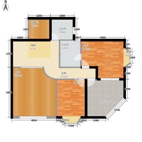 祥和御馨园2室0厅2卫0厨170.00㎡户型图